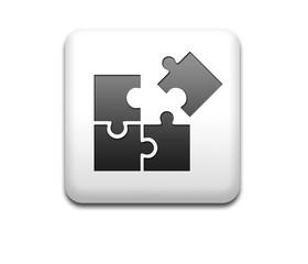 Boton cuadrado blanco simbolo QUIZ