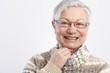 Closeup portrait of smiling elderly woman