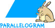 parallelogram shape with cartoon bunny