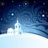 Christmas night background