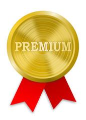 Plakette Gold Premium