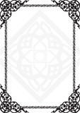 frame with the Arab pattern