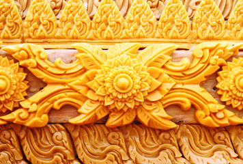 carving candle Thai style