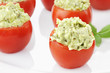 Pesto and Avocado Stuffed Tomatoes