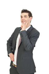 junger mann im anzug