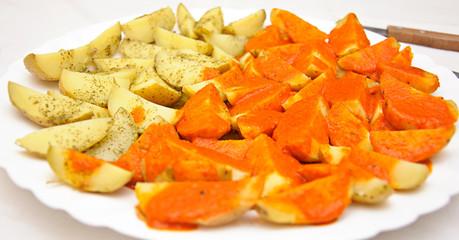 plato de patatas con mojo