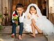 Children Love Couple After the Wedding - 43948266