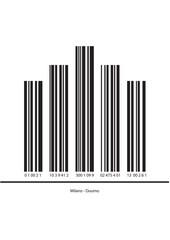 Duomo di Milano codice a barre con numeri