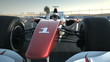 Formula One race car on desert circuit - close-up front