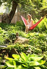 Teen in a hammock