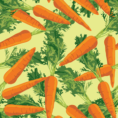 seamless pattern with carrot on light green background, Print