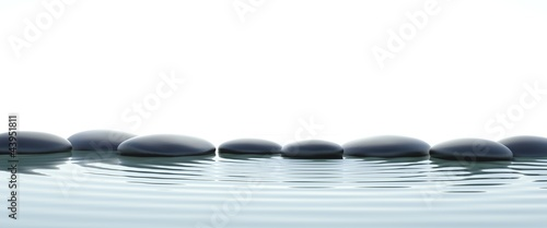 Leinwandbilder,zen,white background,steine,wasser
