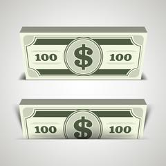 Dollars money vector background