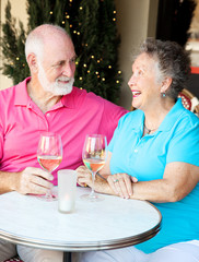 Senior Couple Enjoys Cocktails
