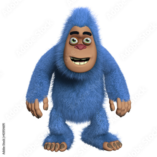 cute blue monster Poster
