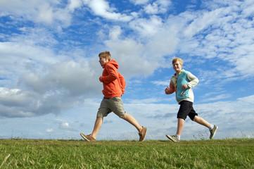 Sportliche Teenager