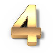 3d Gold metal numbers - number 4