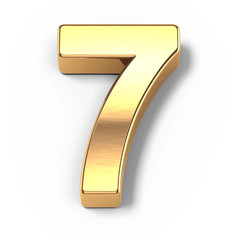 3d Gold metal numbers - number 9