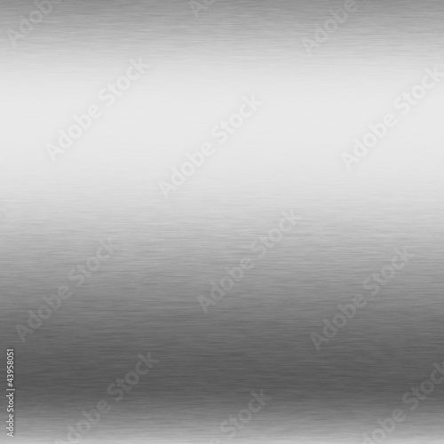 Foto op Canvas Metal brushed silver metal background, chrome texture