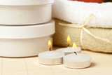 Candles and accessories for spa