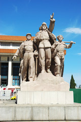 The statue of Chairman Mao Memorial Hall