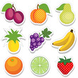 Polka Dot Fruit Stickers