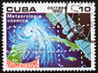 Postage stamp Cuba 1980 Meteorology, Intercosmos