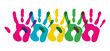 Multicolor diversity hands symbol