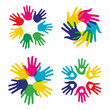 Multicolor diversity hands set