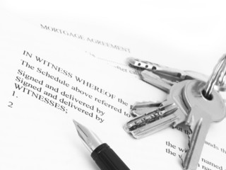 mortgage agreement with keys