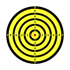 Zielscheibe gelb