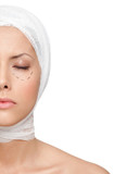 Facelift, isolated, white background poster