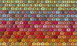 abstract cubical rainbow color pattern backdrop
