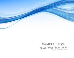 abstract blue business technology colorful wave whit vector