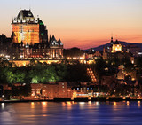 Quebec City skyline at dusk, Canada
