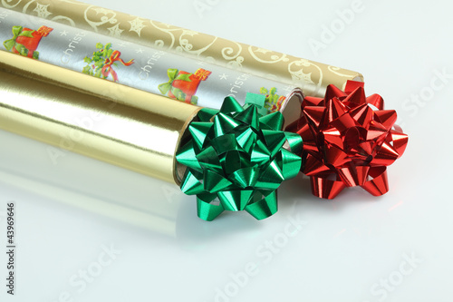 Wrapping Paper and Pompoms