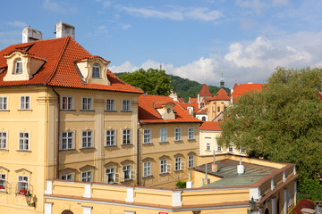 Prague. historical part of the city in the summer
