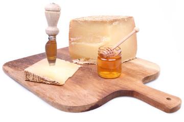 vassoio miele e formaggio