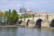 Prague Castle (Czech: Prazsky hrad) and  Charles Bridge