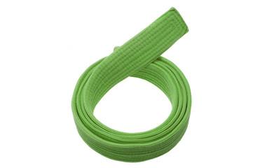 Green belt isolated on white background