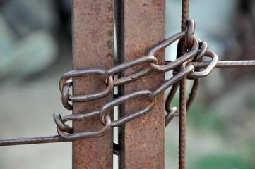 Stahlkette am Eisentor