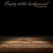 empty space on wooden desk