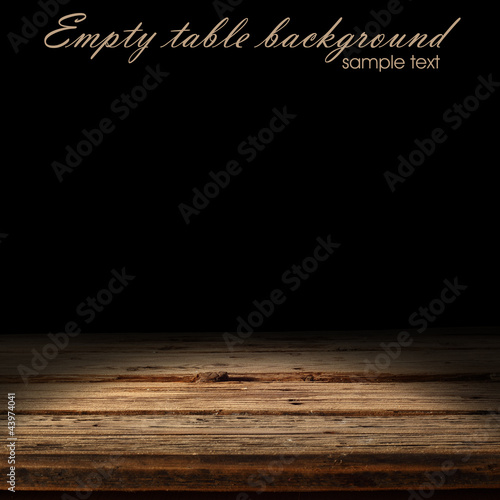 empty space on wooden desk