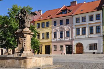 Big square in town Hradec Kralove