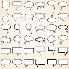 Collection Speech Bubbles, set of text bubbles