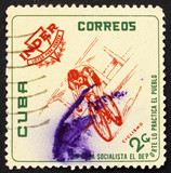 Postage stamp Cuba 1962 Bicycling