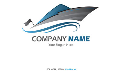Compaby (Business) Name - Yacht,Sailboat - Logo,Vector