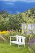 gemütliche Gartenbank