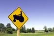 Farm tractor sign