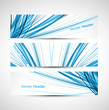 Abstract header line blue colorful wave technology
